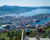Bergen, vaade Floyeni mäelt linnale